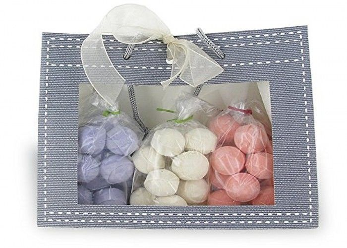 3 Bags 15 Mini Bath Bomb Gift Packs Exotic Fragrance Purple / White / Pink